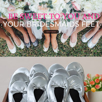 Aohaolee Brides MUST HAVE Wedding Comfy Foldable Ballet Flat Shoes Flip Flop Slipper Gifts For Bridesmaids