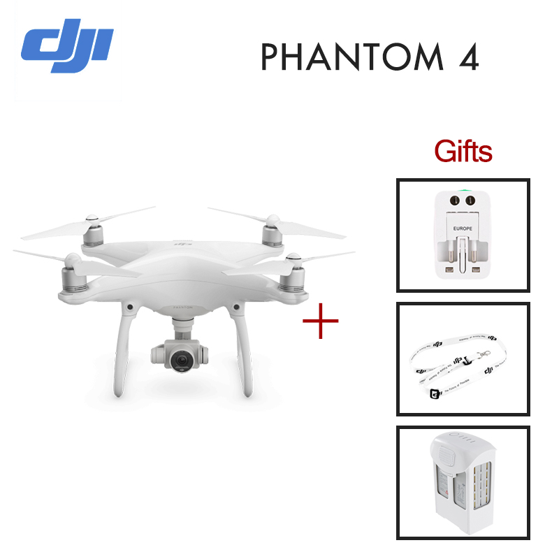Extra Battery!2016 NEW Original DJI Phantom 4 with 4K Camera and 3-Axis Gimbal for Drones Photographer Quadcopter Helicopter FPV