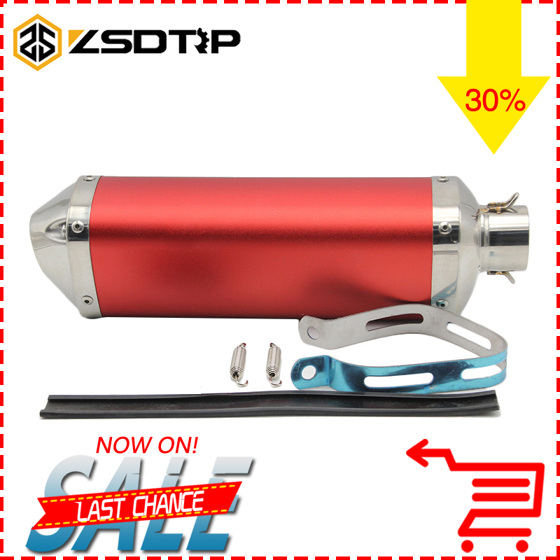 ZSDTRP Modified Motorcycle Dirt Bike Exhaust Escape Scooter Exhaust Muffler Fit For Most Motorcycle CB400 YZF MT07 MT09 TMAX