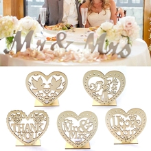 PATIMATE Wooden Ornament Wedding Rustic Decoration Romantic Pendant Plate With LED Light Home Decor