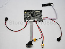 VGA 2AV Reversing LCD Controller Board TTL KYV-N2 V1 for 7″ AT070TN92 LCD 50Pin 800×480 LED TFT LCD Free Shipping With Tracking
