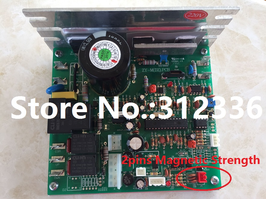 Free Shipping ZY-M(DZ) PCB 220V Motor Controller magnetic strength SHUA BROTHER OMA YIJIAN treadmill board driver control board fast shipping lifting motor suit for treadmill model universal motor shua brother oma family