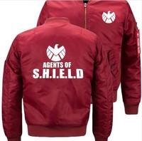 Fashion USA size Flight Jacket Agents of Shield S.H.I.E.L.D. High Quality clothing mens Air Force Men Bomber baseball Jacket