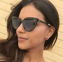 Фотография Contain Rose Gold!2016 New Metrol Fashion Cateye Handsome Personality Sunglasses Women Men Eyewear glasses Multicolor UV400