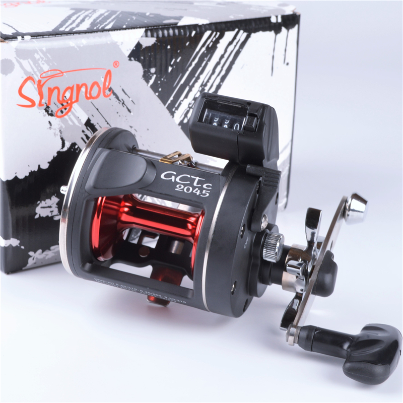 GCTC2045 boat fishing reel 3+1BB gear ratio 3.8:1 max drag 8kg jig reel trolling wheel fishing reels no 300pc 8 bb 3