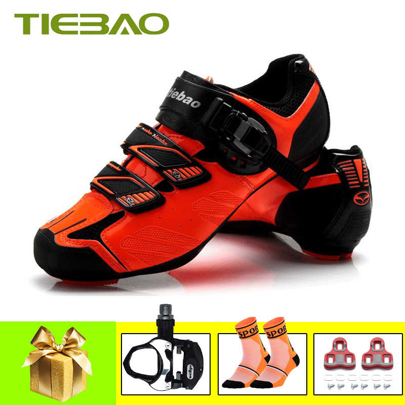 Tiebao pro cycling shoes road men women pedals self-locking bicycle riding shoes bicicletas superstar Athletic bike sneakers