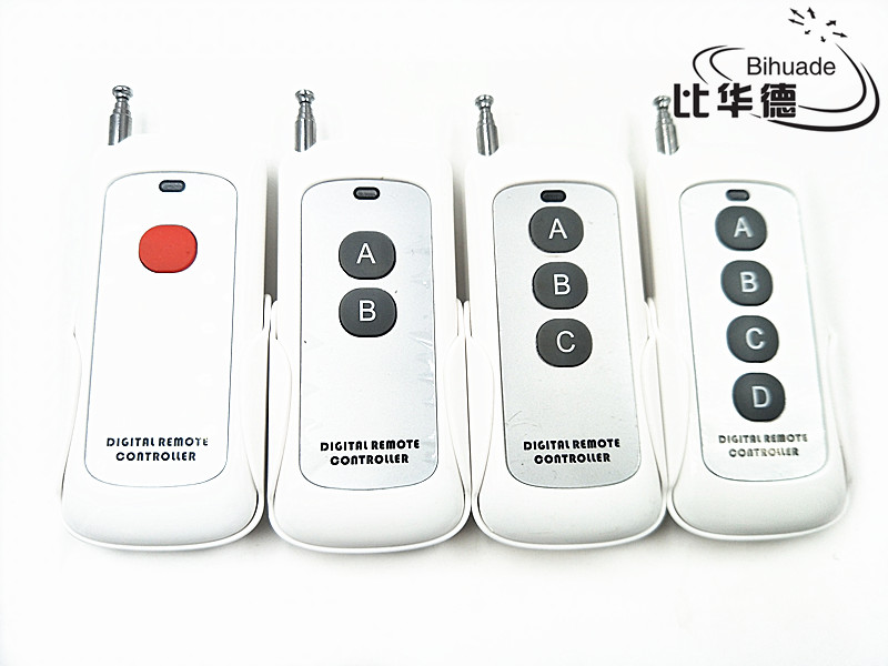 433mhz Remote Control Long Range Wireless Presenter Controller RF Module  Remote Control (learning code 1527) antenna 1-4 buttons