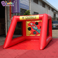 2.5x3.5x2 meters inflatable shootout game / red portable football goal / inflatable football soccer goal toys