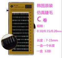 BLINK LASH 7-15mm, 12 Linie, C Curl, Korea Faux Rzęsy Norek Przedłużenie Rzęs Rzęsy makijaż Darmowa Wysyłka