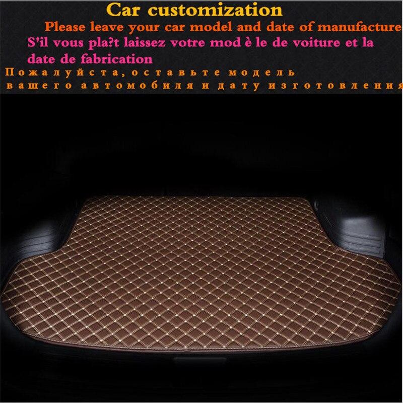 Tapis de coffre de voiture haut de gamme pour Cadillac ATS CTS CT6 SRX XT5 XTS en cuir imperméable Durable