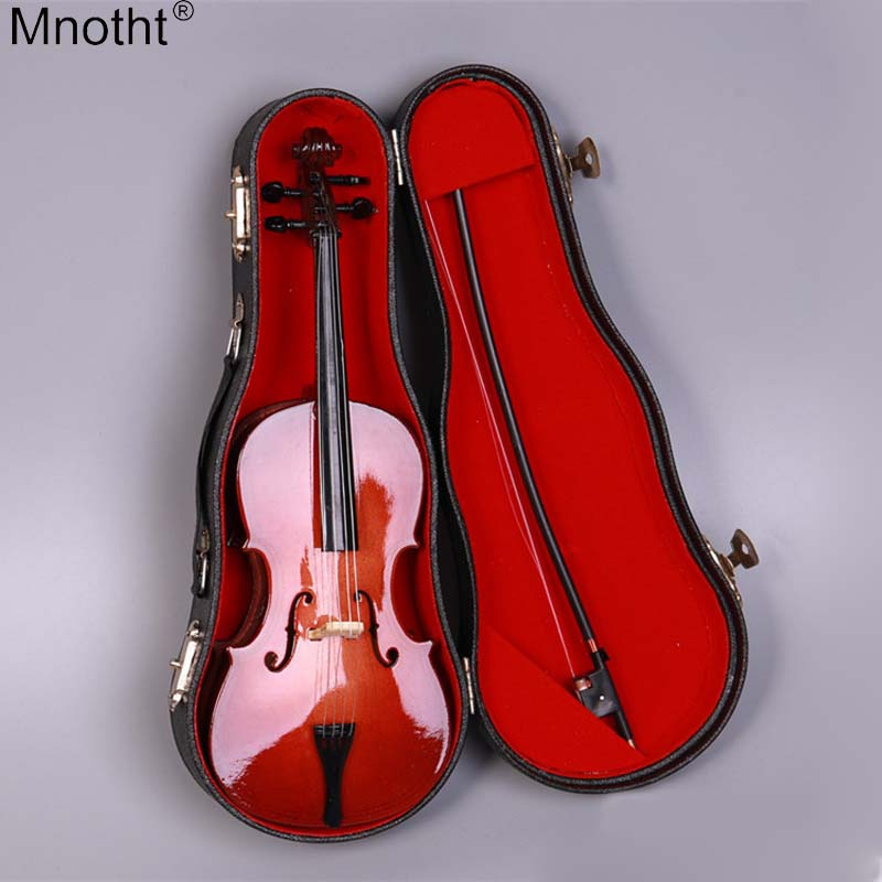 Mnotht 1/6 Classic Style Cello Model 20cm Miniature Scene Musical Instrument Toy Fit PH Soldier Puppet for 12