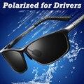 Fresco Retro hombres gafas de sol polarizadas de conducción aluminio de la aviación ultraligera de magnesio fotograma completo gafas de sol del conductor