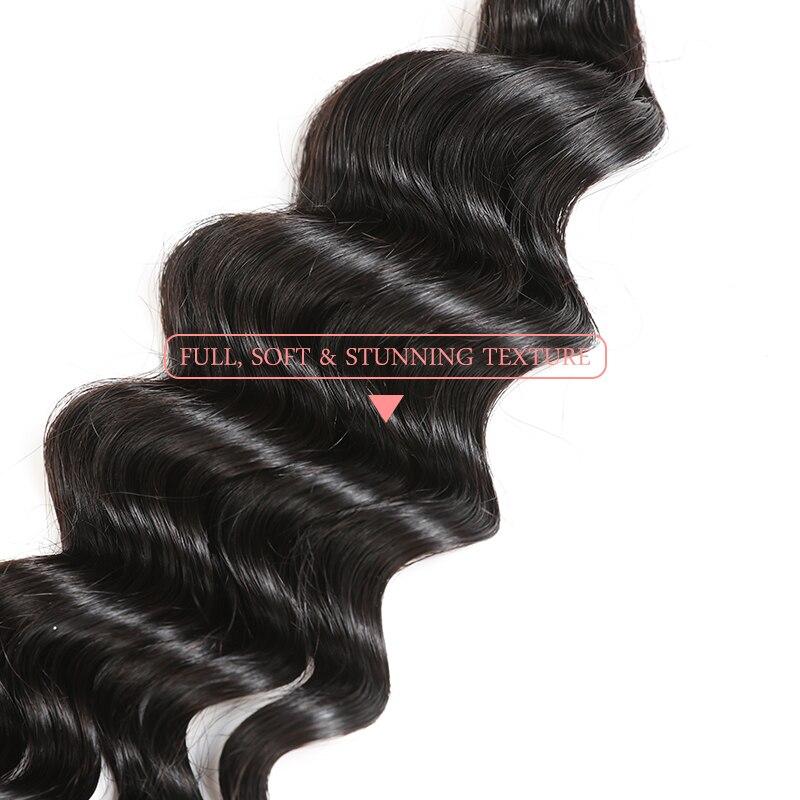 3 pièces Brésilien Naturel Vague Faisceaux D'armure De Cheveux Humains De Couleur Naturelle Cheveux Ali Reine Cheveux 8-30 pouces Longueur de Mélange Vierge Cheveux - 4