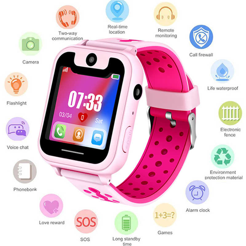 S6 Kids Smart Watch Lbs Smartwatches Bayi Watch Anak-anak SOS Call Location Finder Locator Tracker Anti Hilang Monitor Anak-anak Hadiah.