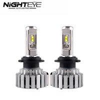 Nighteye 70 W/set 9000LM H7 Tự Động Car LED Đèn Pha LED Kit Fog Ánh Sáng Bulbs Với Chip Cree 6000 K Trắng 12 V Xe Nguồn Sáng 2 cái
