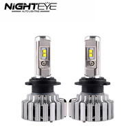 Nighteye 70W/set 9000LM H7 Auto Car LED Headlight Kit Fog Light Bulbs With Cree Chips 6000K White 12V Car Light Source 2pcs