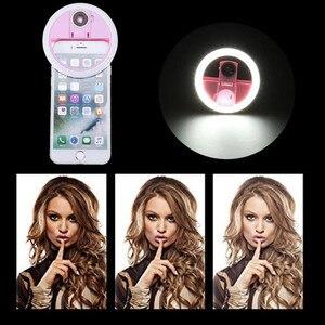 Image 1 - USB LED الجمال ملء ضوء الإضاءة التكميلية ليلة الظلام Selfie تعزيز للهاتف تهمة Selfie مصباح مصمم على شكل حلقة ringlight