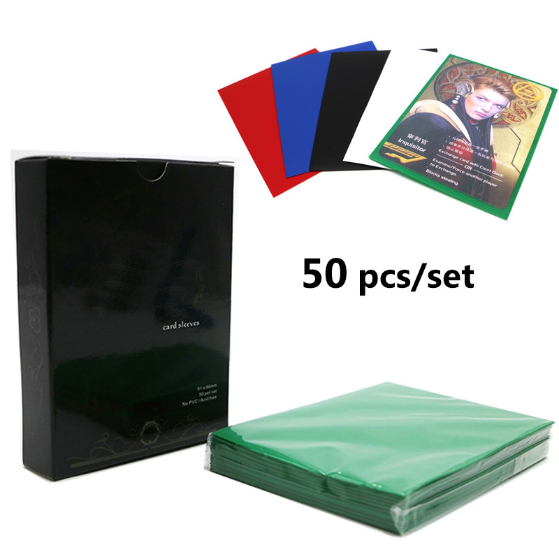 50pcs/set Multi Color Card Protector 91*66mm Card Sleeves Holder For Magic Yugioh Pokemon 88*63mm Cards Board Game
