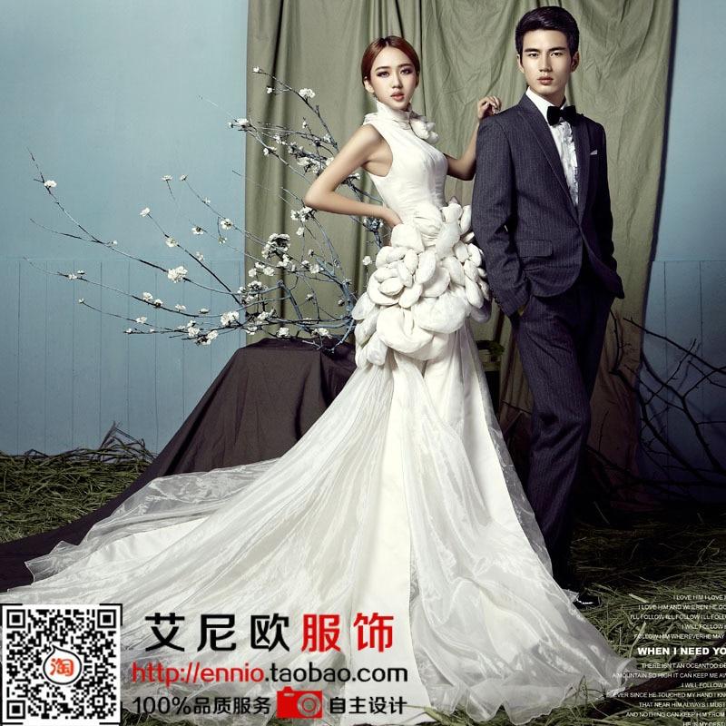 free shipping 2015 men suits and women dress couple wedding dress ...