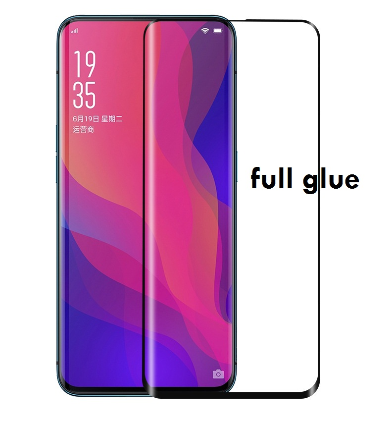 3D Full Glue Adhensive Case Friendly Tempered Glass for <font><b>Oppo</b></font> Find X Glass <font><b>Phone</b></font> Screen Protector