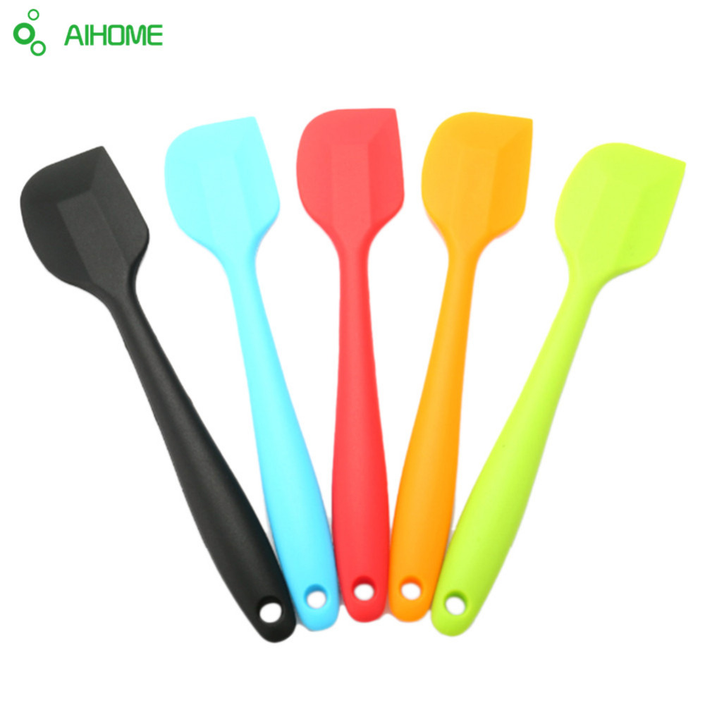 Aihome colorful cake butter cream spatula oil bread for Colorful kitchen tools