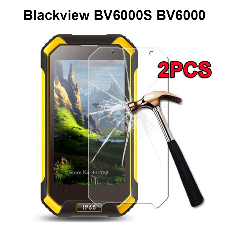 2PCS Blackview BV6000 Tempered Glass 4.7 inch 100% Premium Screen Protector Front LCD Film For Blackview BV6000S BV 6000 phone