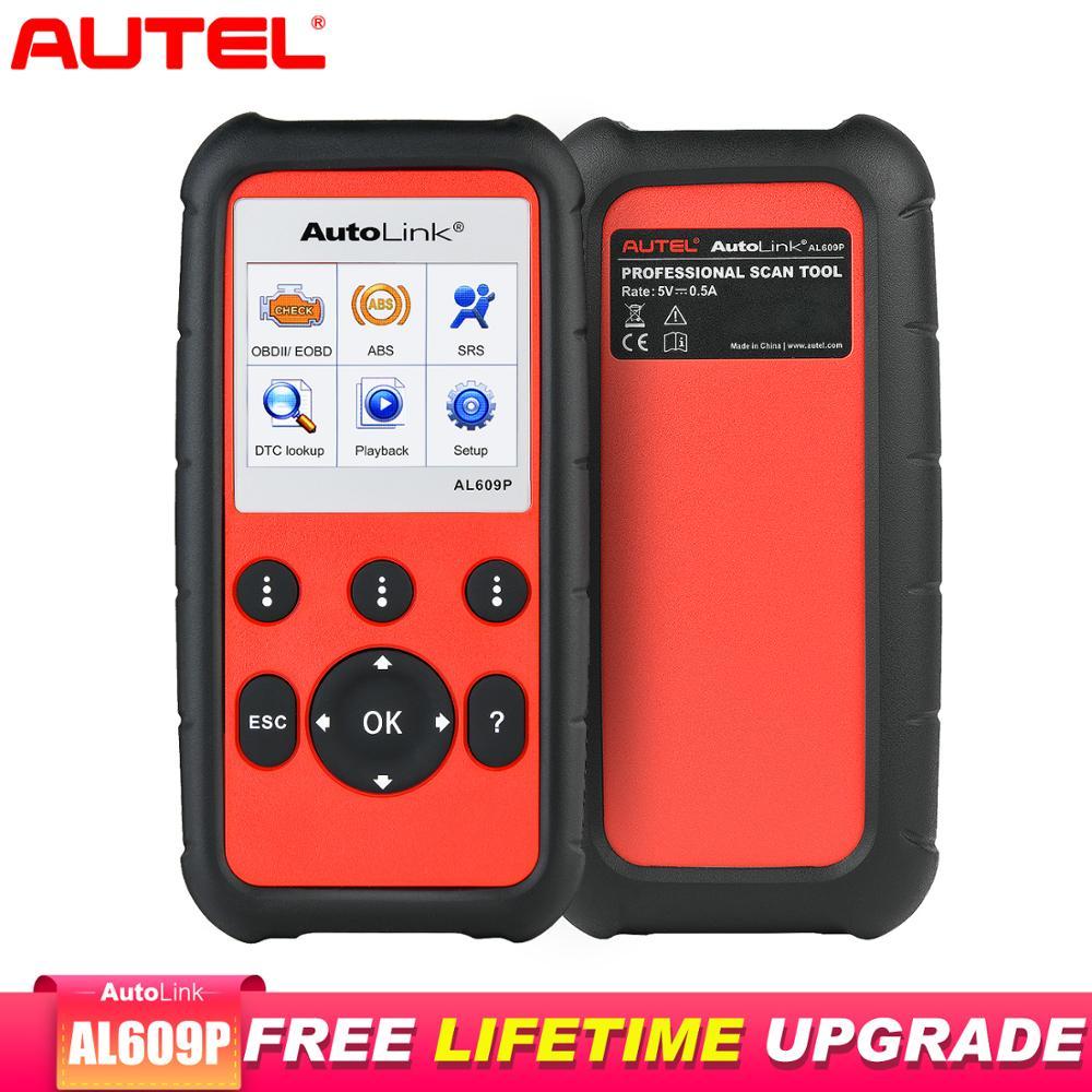 Autel AutoLink AL609P Obd2 Scanner Diagnostic Tool Car Diagnostic Scaner Automotivo ABS and SRS system Batter Than elm327 v1.5