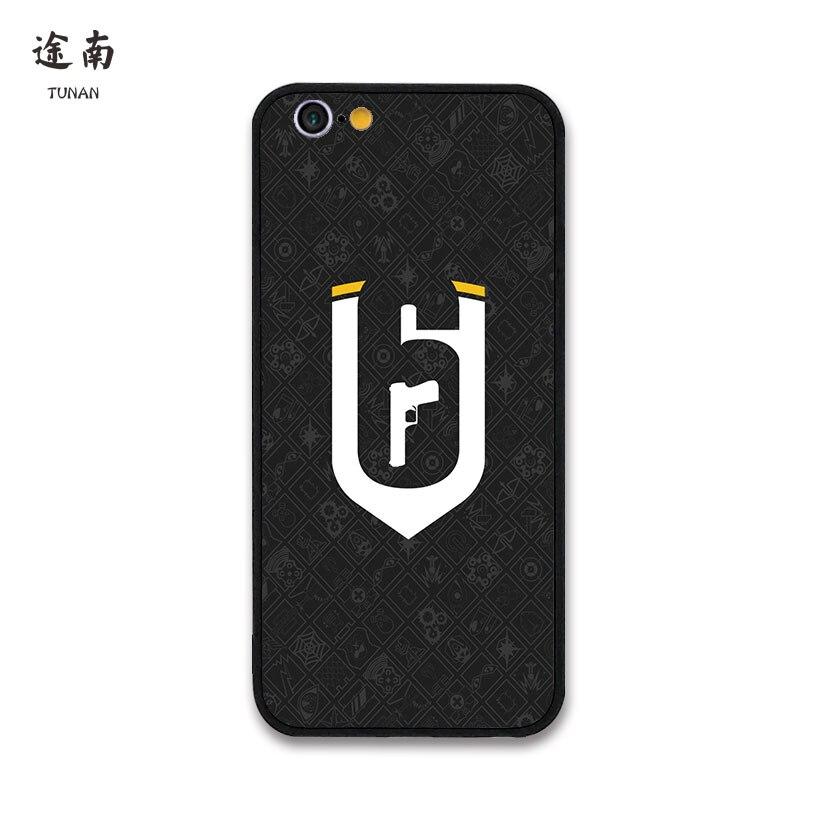 Rainbow six siege gema coque iphone 6 7 8 plus cover case - Rainbow six siege phone ...