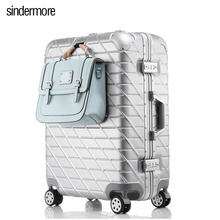 """20""""24""""26""""28""""Aluminum frame&drawbars&PC TSA Scratch resistant travel trolley case rolling luggage bags suitcase with wheels"""