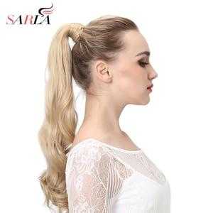 Image 1 - SARLA 200 teile/los Clip In Natürliche Welle Wrap Pferdeschwanz Wärme Beständig Synthetische Haar Extensions P002