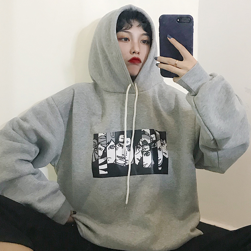 Sudadera Mujer 2020 Harajuku Fashion Women Sweatshirt Hoodies Korean Ulzzang Vintage Fleece Long Sleeve Hooded Sweatshirts Tops