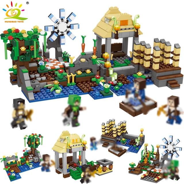 723pcs 4in1 Minecrafted Dream Park Building Block Compatible City Steve Figures Bricks Educational toys for children