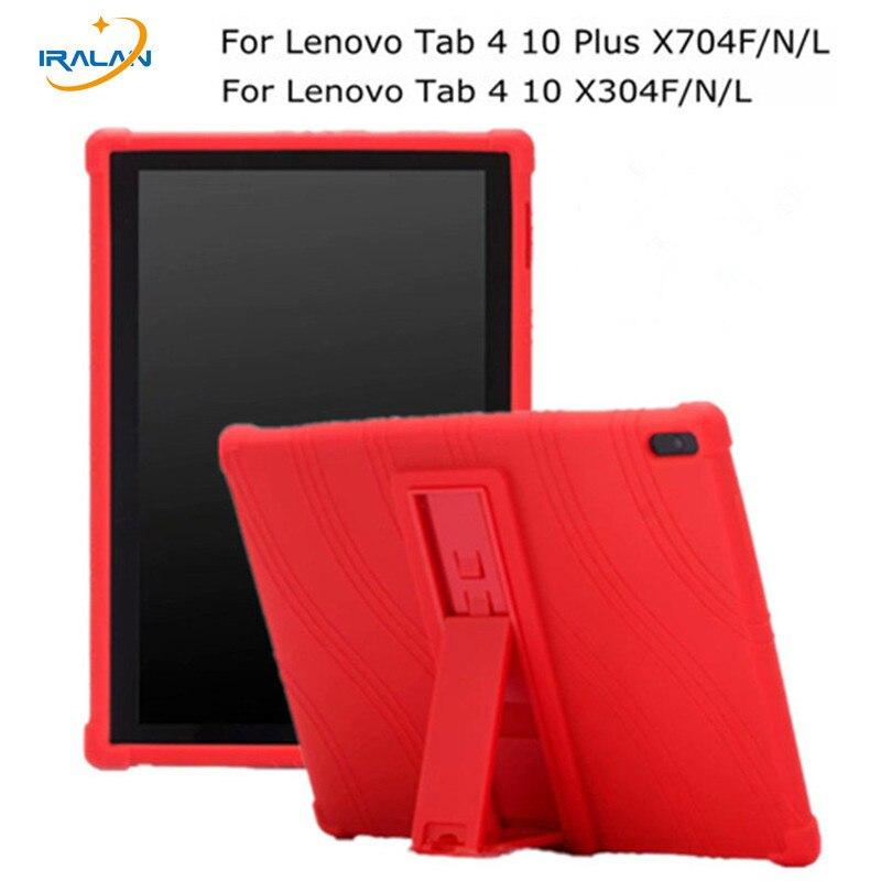 Weichem Silikon Zurück Fall für Lenovo Tab 4 10 TB-X304F X304N/L Tablet TPU Stoßfest Abdeckung für TAB 4 10 Plus TB-X704F/N/L + Stylus