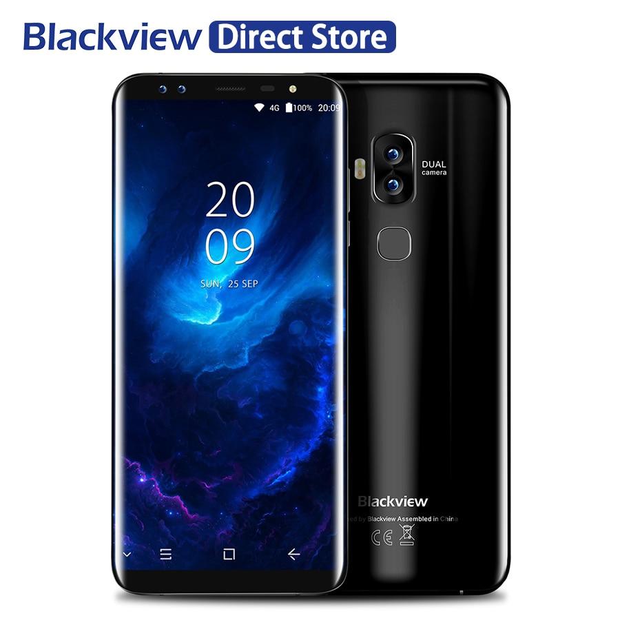 Blackview S8 指紋 OTG スマートフォン 5.7 ''HD + 18:9 画面 4 ギガバイト 64 ギガバイト 4 カメラ携帯電話 4 4G LTE GPS オクタコアの携帯電話  グループ上の 携帯電話 & 電気通信 からの 携帯電話 の中 1