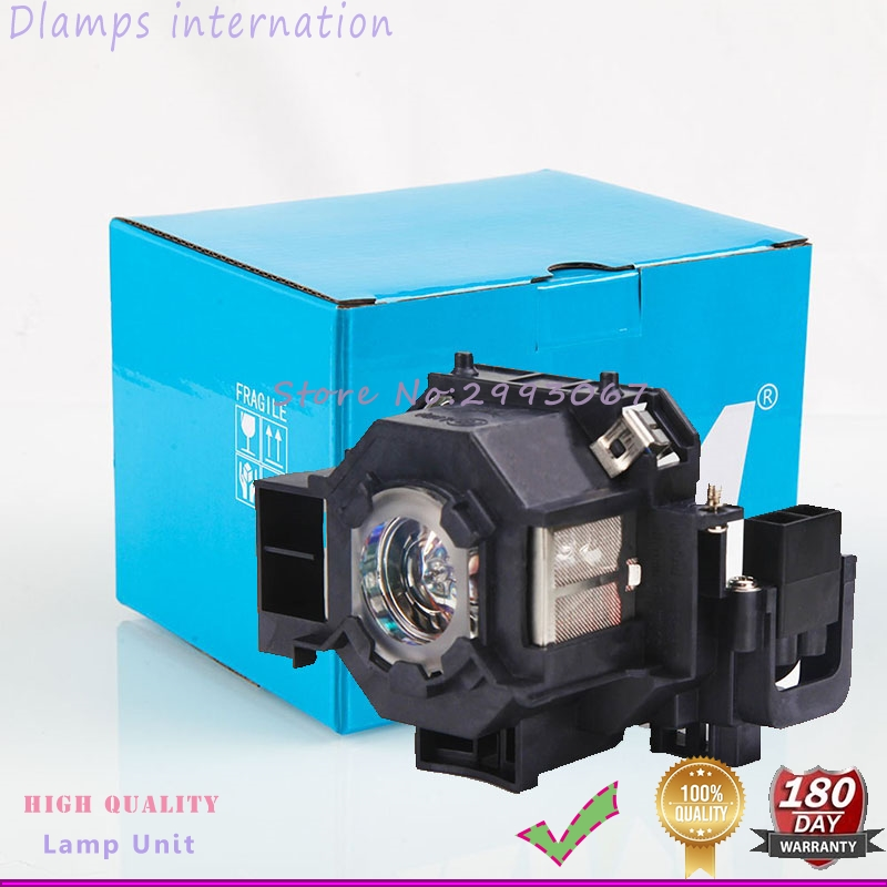 Projector Lamp with Housing For EMP-400W 410W EMP-83H PowerLite 822 EMP-400e EX90 / EMP-400 / EMP-280 /H330B ELP42 V13H010L42 free shipping projector bare lamp elplp19 for epson powerlite 32 emp 32 emp 30 emp 52