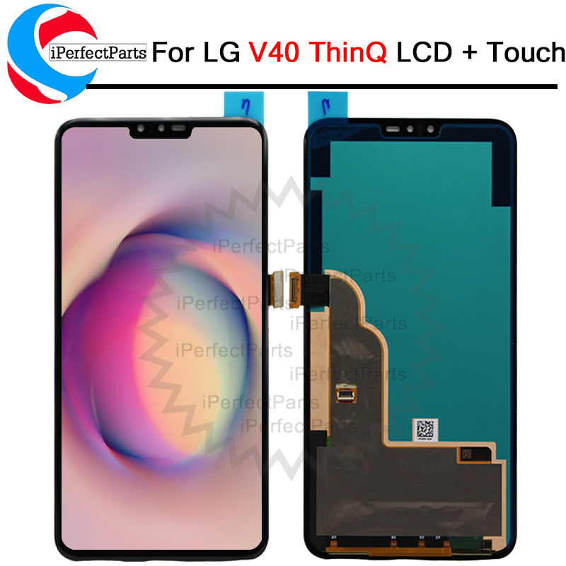 100 Tested 6 4 For LG V40 ThinQ LCD Screen Touch Screen Digitizer Assembly replacement For