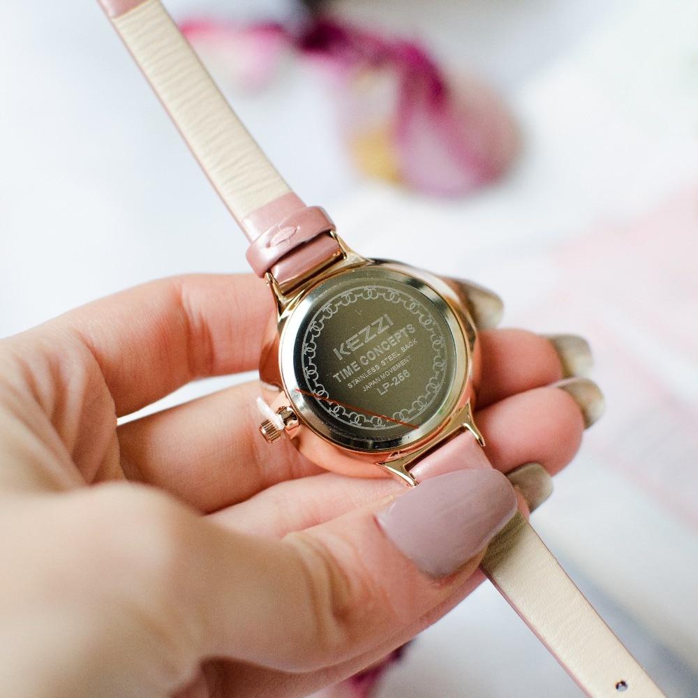 Kvinde elegante læder ure 2018 luksus kvinder ure top mærke diamond - Dameure - Foto 6