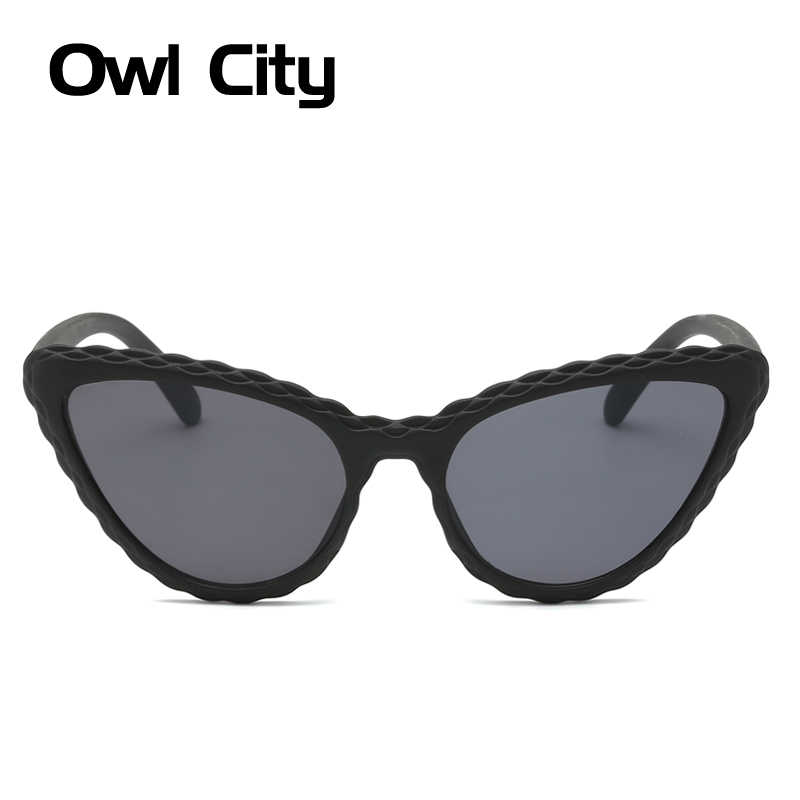 c761ef10c9e7 ... Cat Eye Sunglasses Women Vintage Female Sunglass Wave Print Brand  Designer Ladies Sun Glasses Retro Cateye ...
