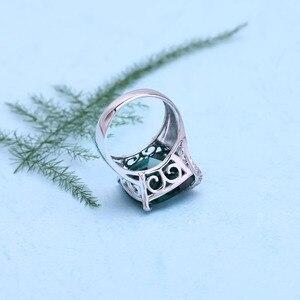Image 5 - GEMS בלט רוסית ננו אמרלד חן טבעת תכשיטי עגילי סט לנשים 925 סטרלינג כסף אירוסין תכשיטי חתונה