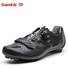 Santic Men Cycling Shoes Lightweight Road Bike Shoes Lace-up Nylon Sole Cycling Racing Team Bicycle Sneakers Breathable Upper santic road cycling shoes green bicycle shoes nylon sole road shoes cycling zapatillas ciclismo s12019y