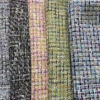 150 cm * 3 yards için 5 renkler pullu jakarlı polyester kumaş rüzgar geçirmez yünlü kumaş moda kumaş, ceket, pantolon, çanta, safa cov