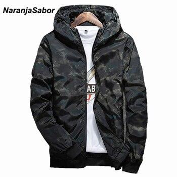 NaranjaSabor Spring Autumn Mens Casual Camouflage Hoodie Jacket Men Waterproof Clothes Men s Windbreaker Coat Male