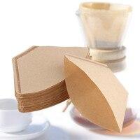 High Quality 100 Pcs Bag Wooden Original Hand Drip Paper Espresso Coffee Filter Packs Tea Bag