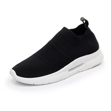 Fashion Sneakers Woman Platform 2019 Soft Heel Woman Casual Shoes High Top Knitted Woman Leisure Ankle Sock Fabric Mesh Shoes jookrrix casual elasticity sock shoes women brand white sneakers high top lady fashion mesh chaussure female leisure footware