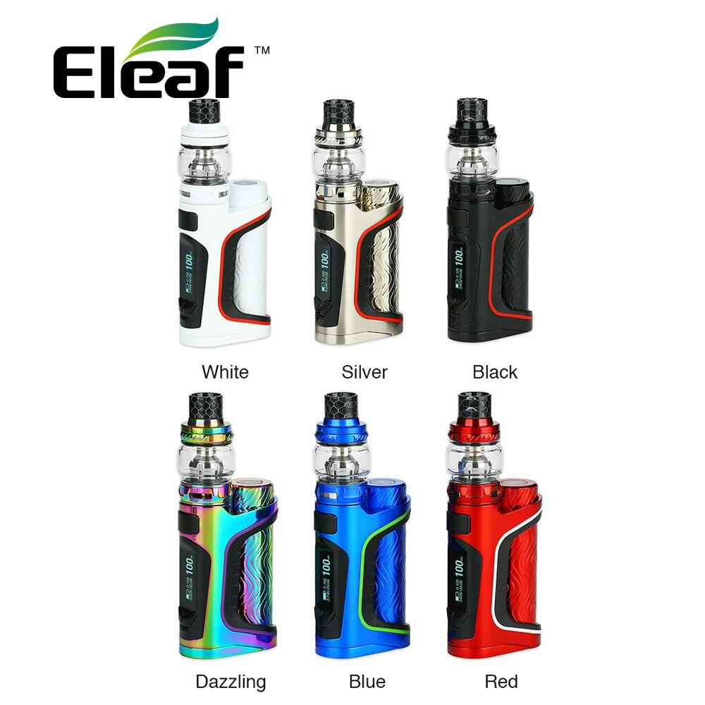 Оригинальный Eleaf istick Pico S Kit w/Stick Пико S Mod Max Выход 100 Вт и 2 мл/6,5 мл Элло частного бак нет 21700/18650 Батарея комплект для электронной сигареты