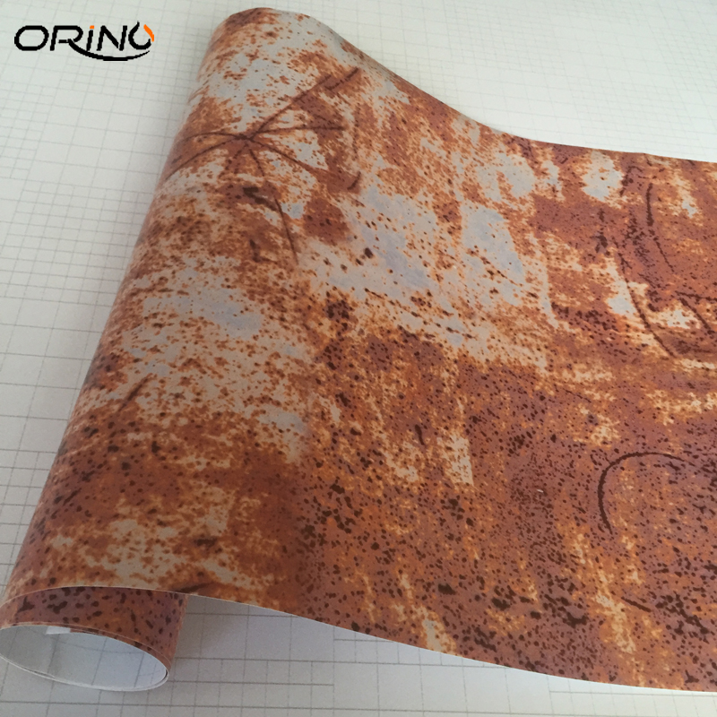 ORINO Rusting Wrap Vinyl Film Self-adhesive PVC Car Sticker DIY Rusty Decal For Auto Scooter Motorcycle Car Rust Foil Wrapping