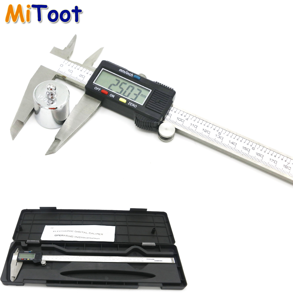1pcs 300mm 0.01mm Electronic Digital Caliper Vernier Calipers Stainless Steel Micrometer Measuring Tools with LCD Screen цена и фото