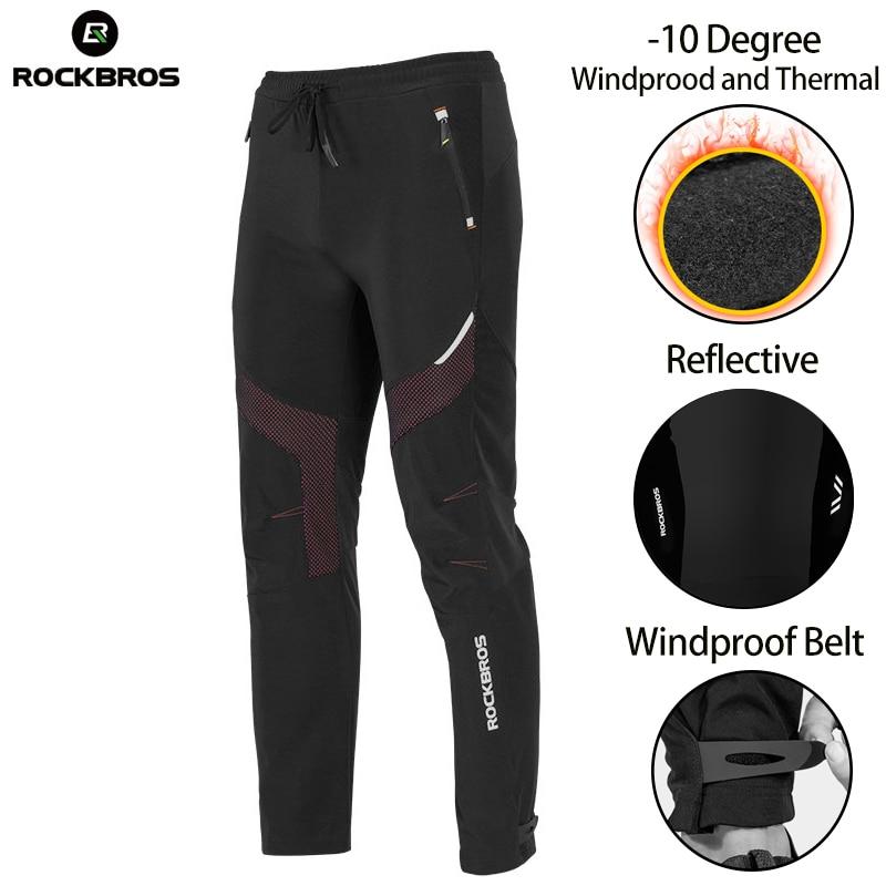Men/'s Cycling Pants Winter Padded Bicycle Bike Fleece Thermal Long Pants XL-3XL