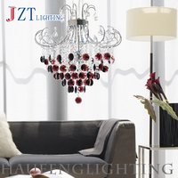 T Luxury Modern Crystal Pendant Light Fashion Artistical Lamps With E14 Led Bulbs Decoration Sitting room Black or Purple