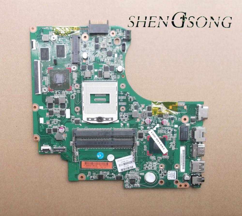 755185-501 Free shipping ! 100% tested 755185-001 board for HP 14 14-d101TX 14-d series laptop motherboard 574680 001 1gb system board fit hp pavilion dv7 3089nr dv7 3000 series notebook pc motherboard 100% working